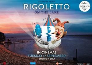Rigoletto on the Lake  from Bregenz Festival, Austria Poster