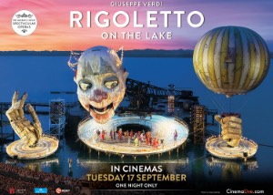 Rigoletto on the Lake  from Bregenz Festival, Austria Poster