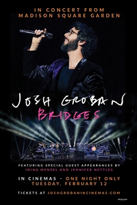Josh Groban from Madison Square Garden Logo